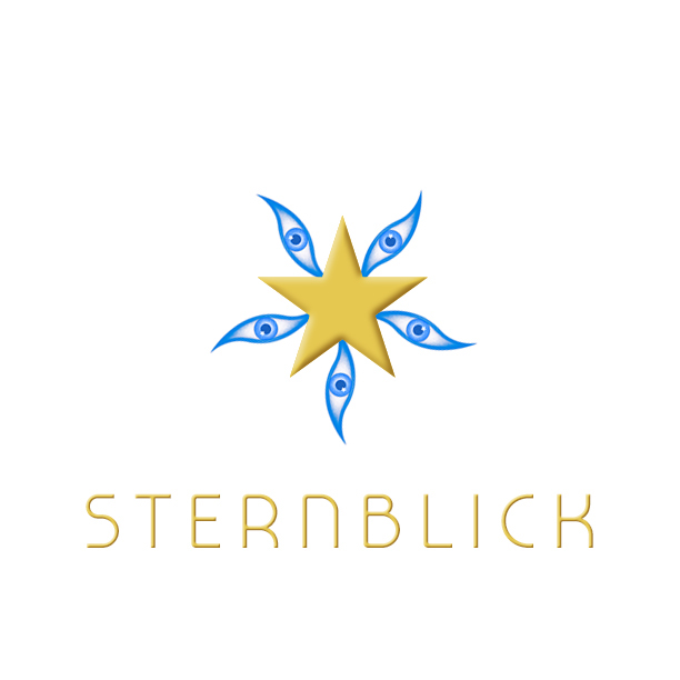 Sternblick repeat eye motif - Depending on your view point, the image will suggest a Star, Windmill, Flower etc.