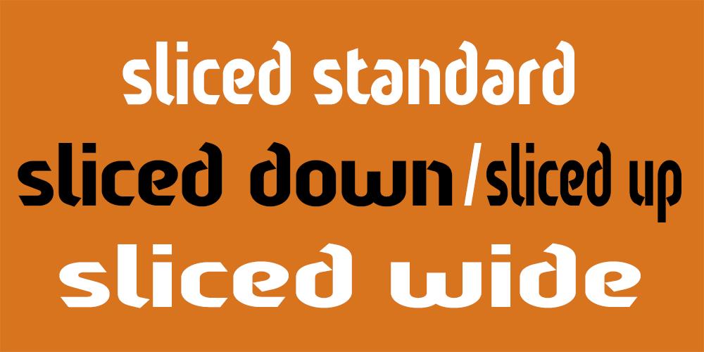 Sliced Banner 4 weights