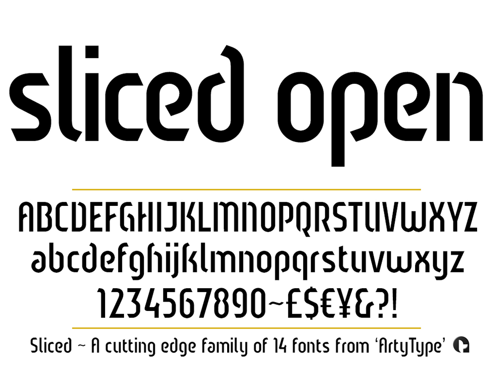 Sliced open