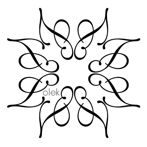 Lolek Logo repeat B&W
