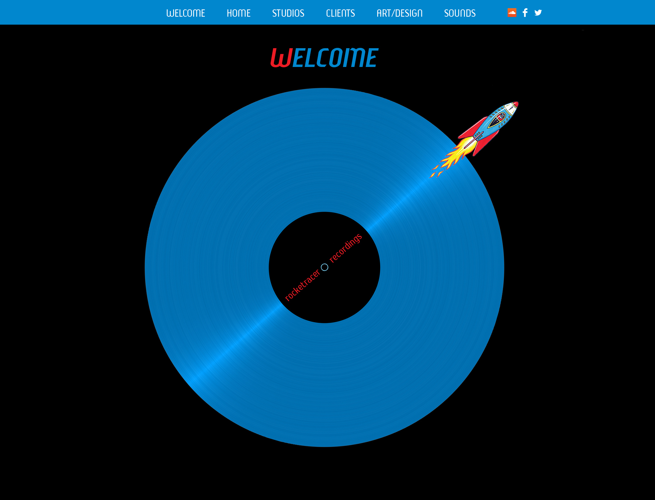 RR Recordings landing page