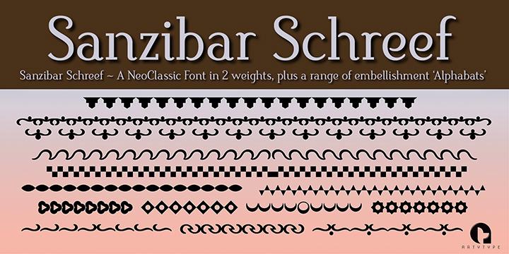 Sanzibar Schreef alphabats