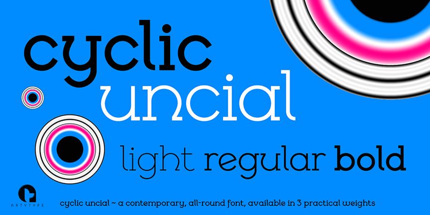 Cyclic uncial Banner 5c