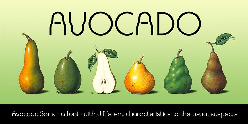 Avocado Sans banner 3 alt